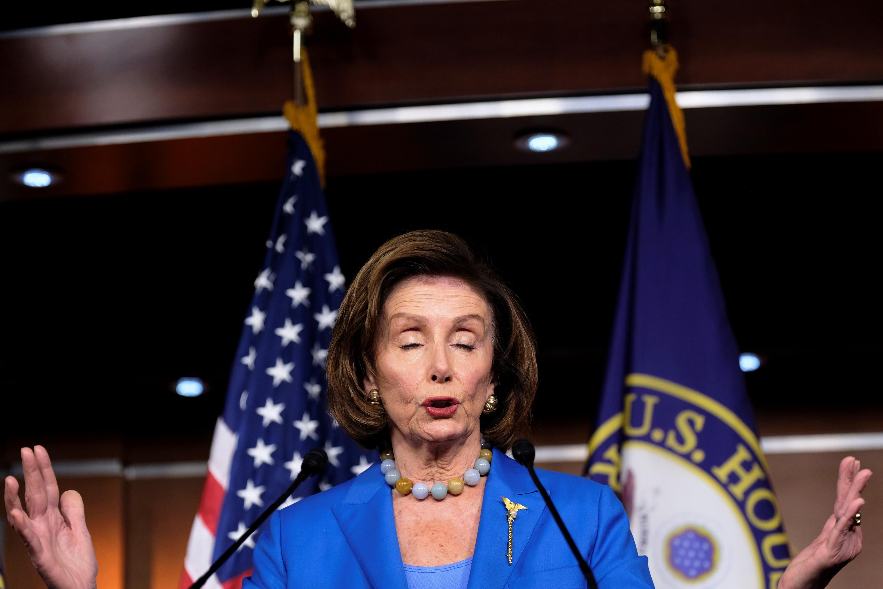La presidenta de la Cámara de Representantes, la demócrata Nancy Pelosi.