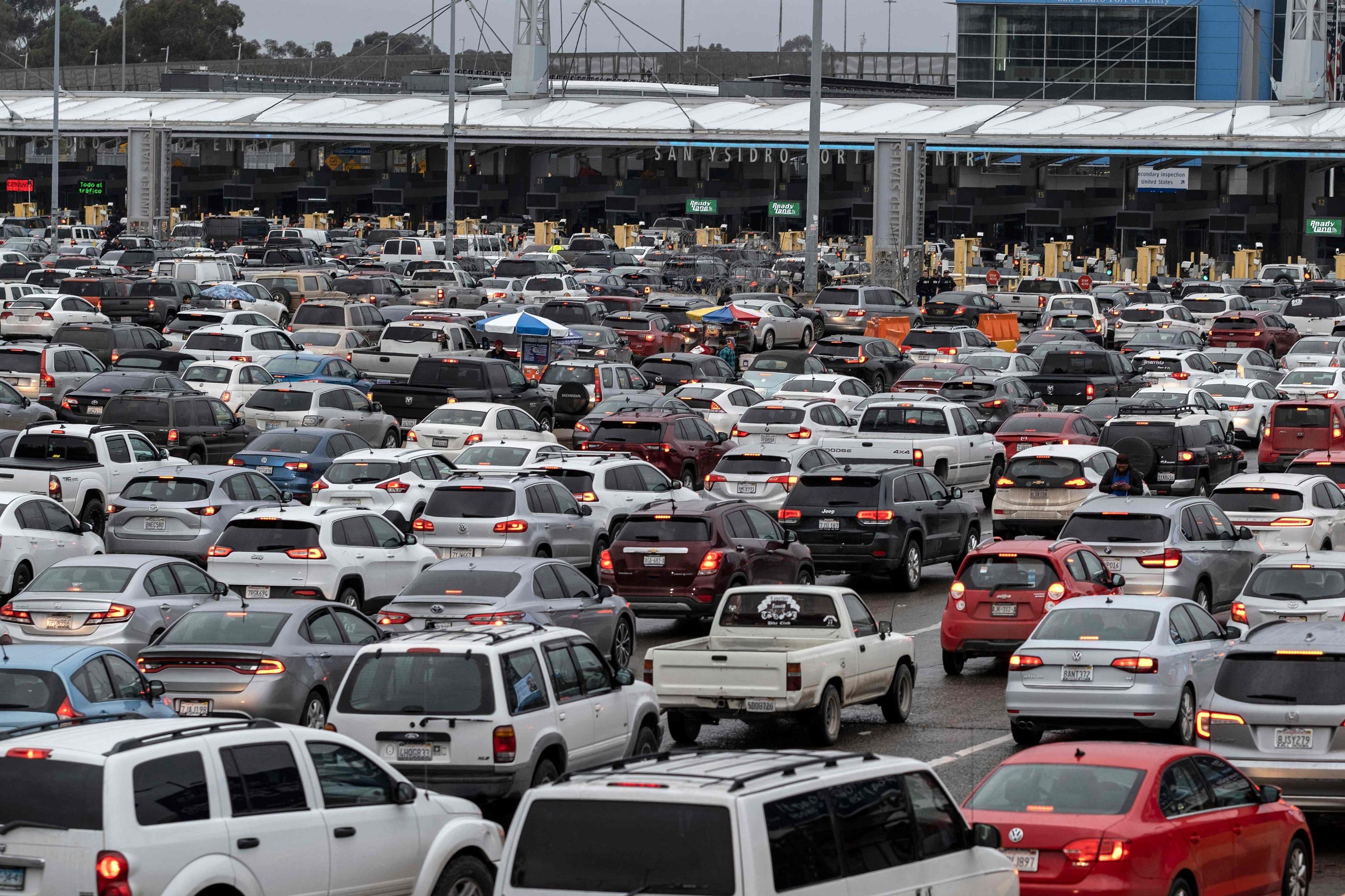 Imagen de marzo de 2020 del aspecto de la frontera entre EEUU y México.