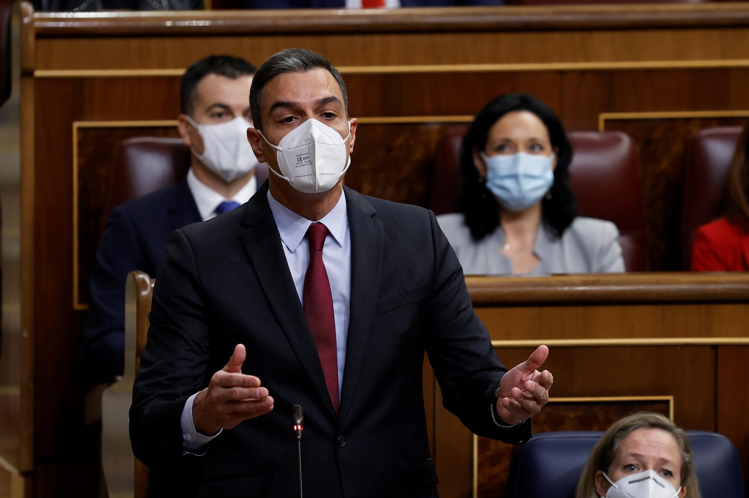Pedro Sánchez, este miércoles en la sesión de control en el Congreso.