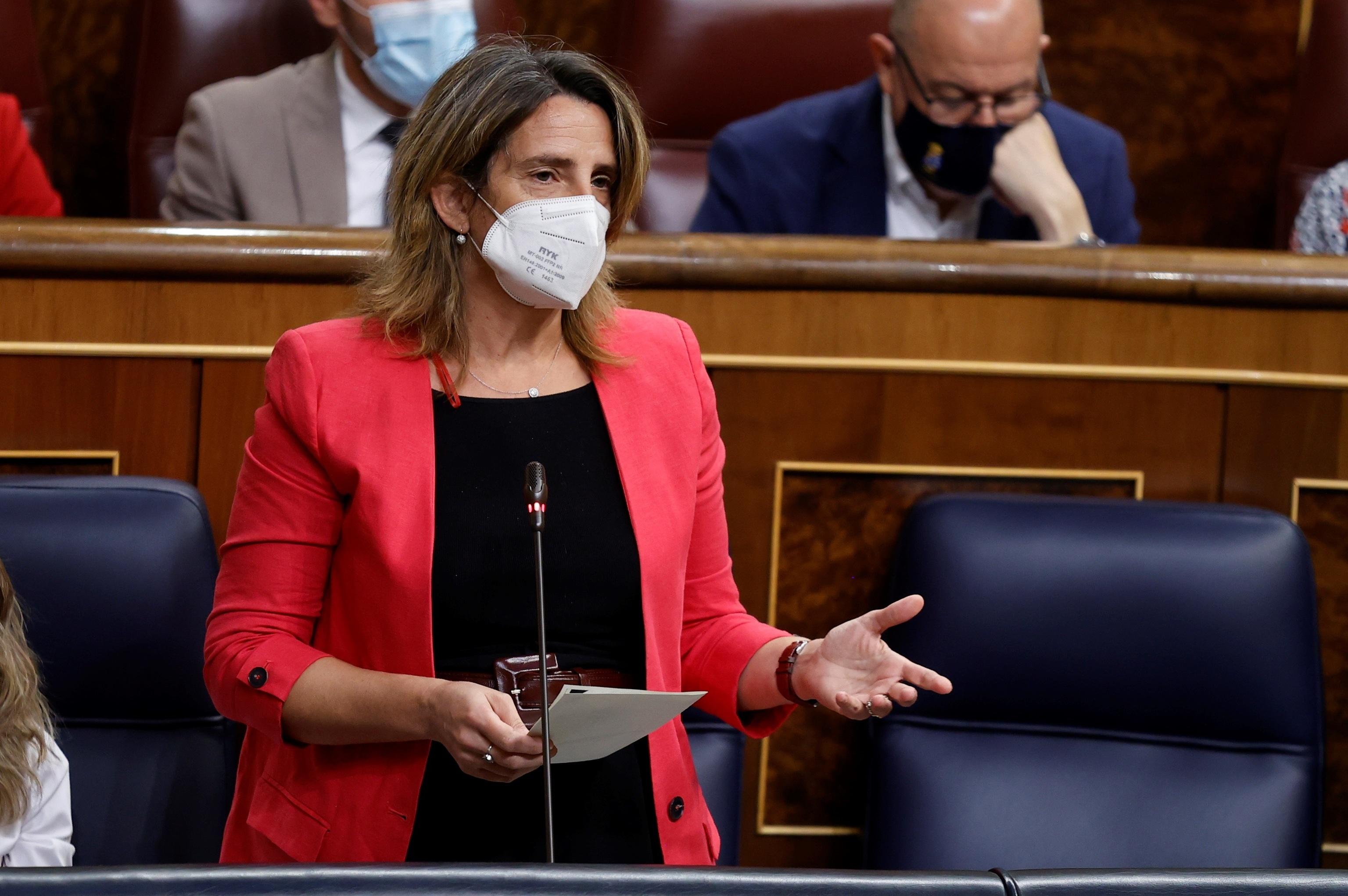 La vicepresidenta para la Transición Ecológica, Teresa Ribera, en el Congreso.