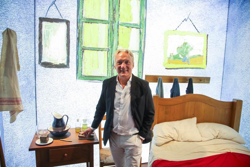Willem Van Gogh, sobrino nieto del pintor y embajador del Museo van Gogh de Ámsterdam, hace unos días en Madrid.