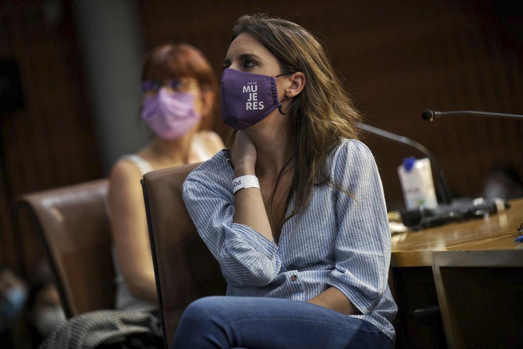 La ministra de Igualdad, Irene Montero, en un acto de Podemos.