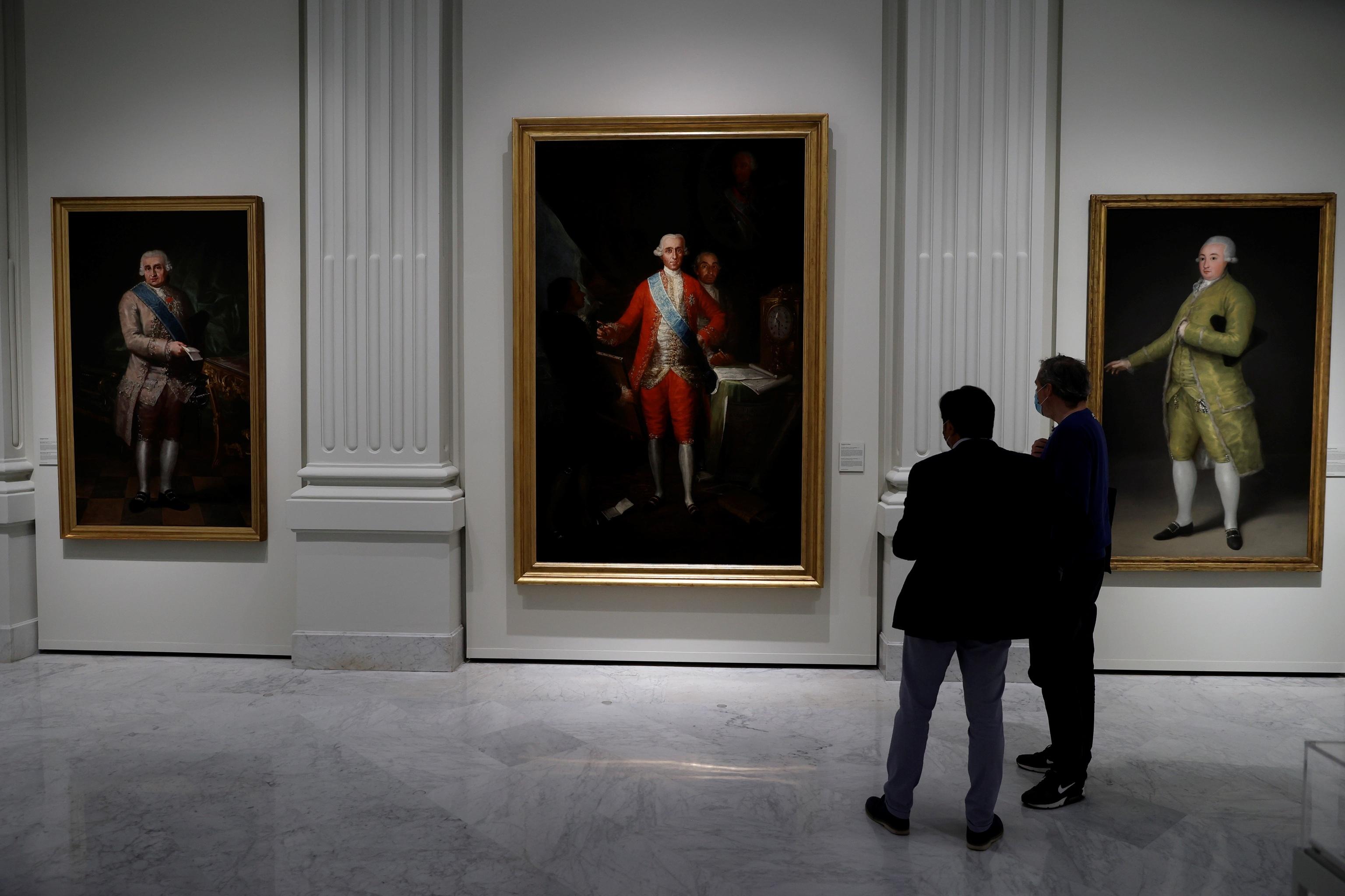 Tres de las obras de Goya de la colección del Banco de España.