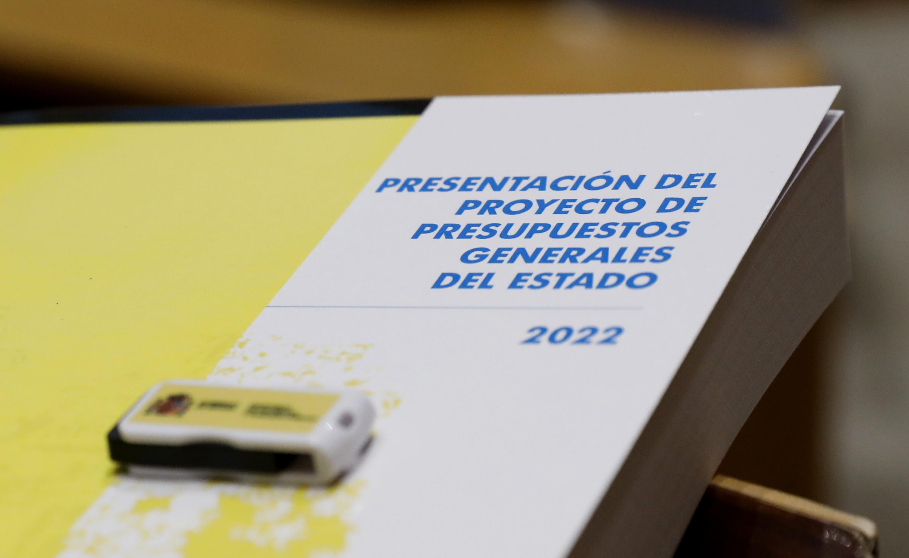 El documento de los Presupuestos Generales del Estado, en el congreso de los Diputados