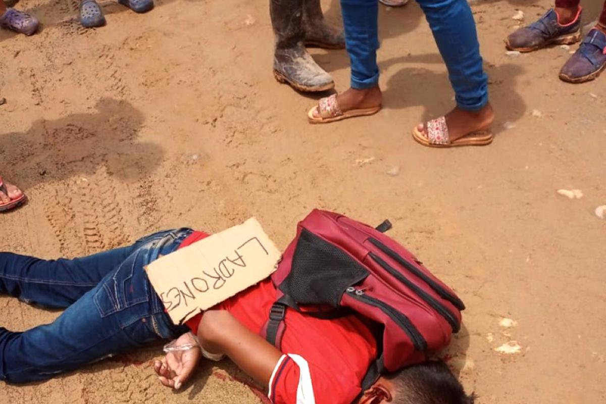 Niños asesinados por haber robado en Tibú, Colombia.