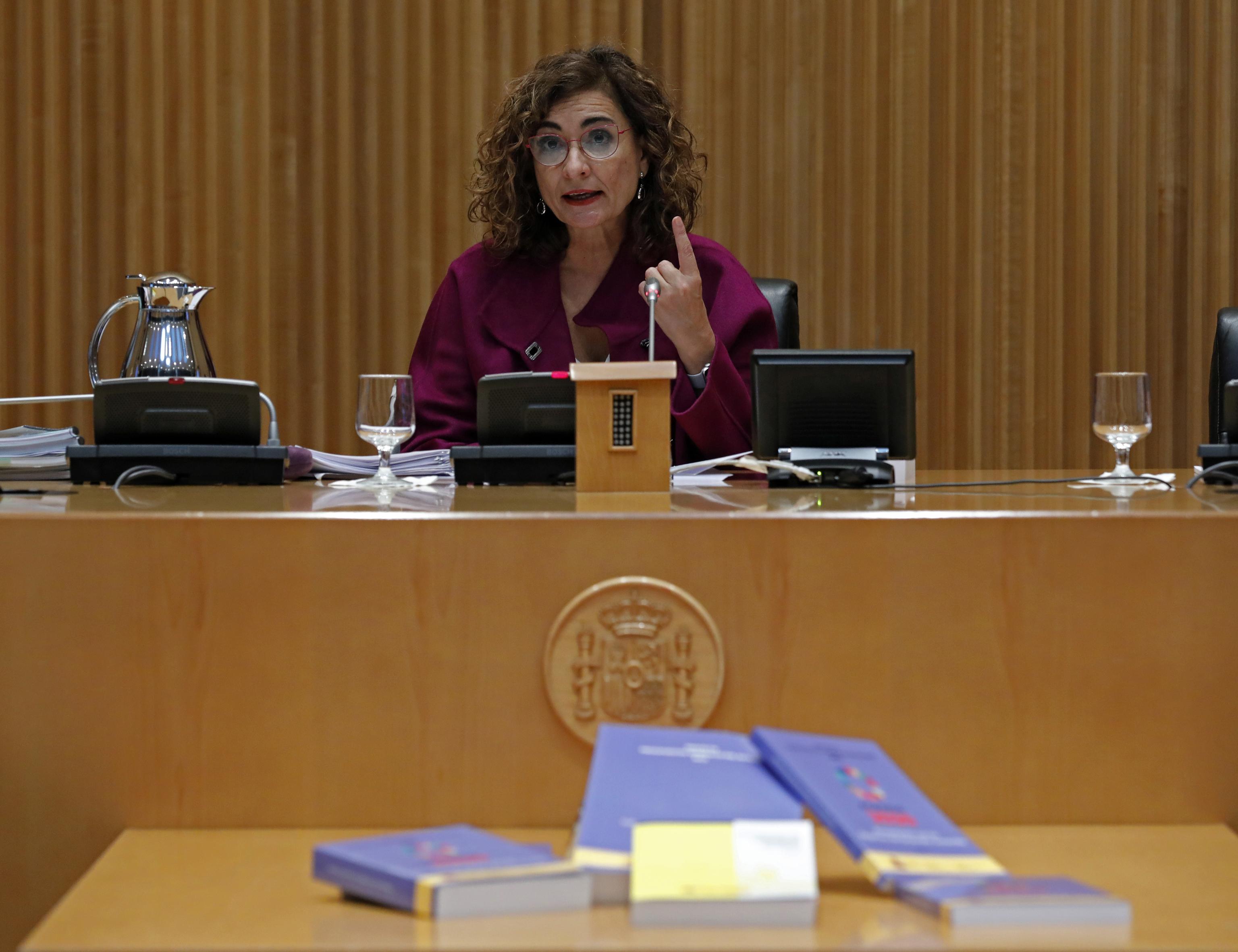 La ministra de Hacienda, María Jesús Montero, este martes en el Congreso de los Diputados