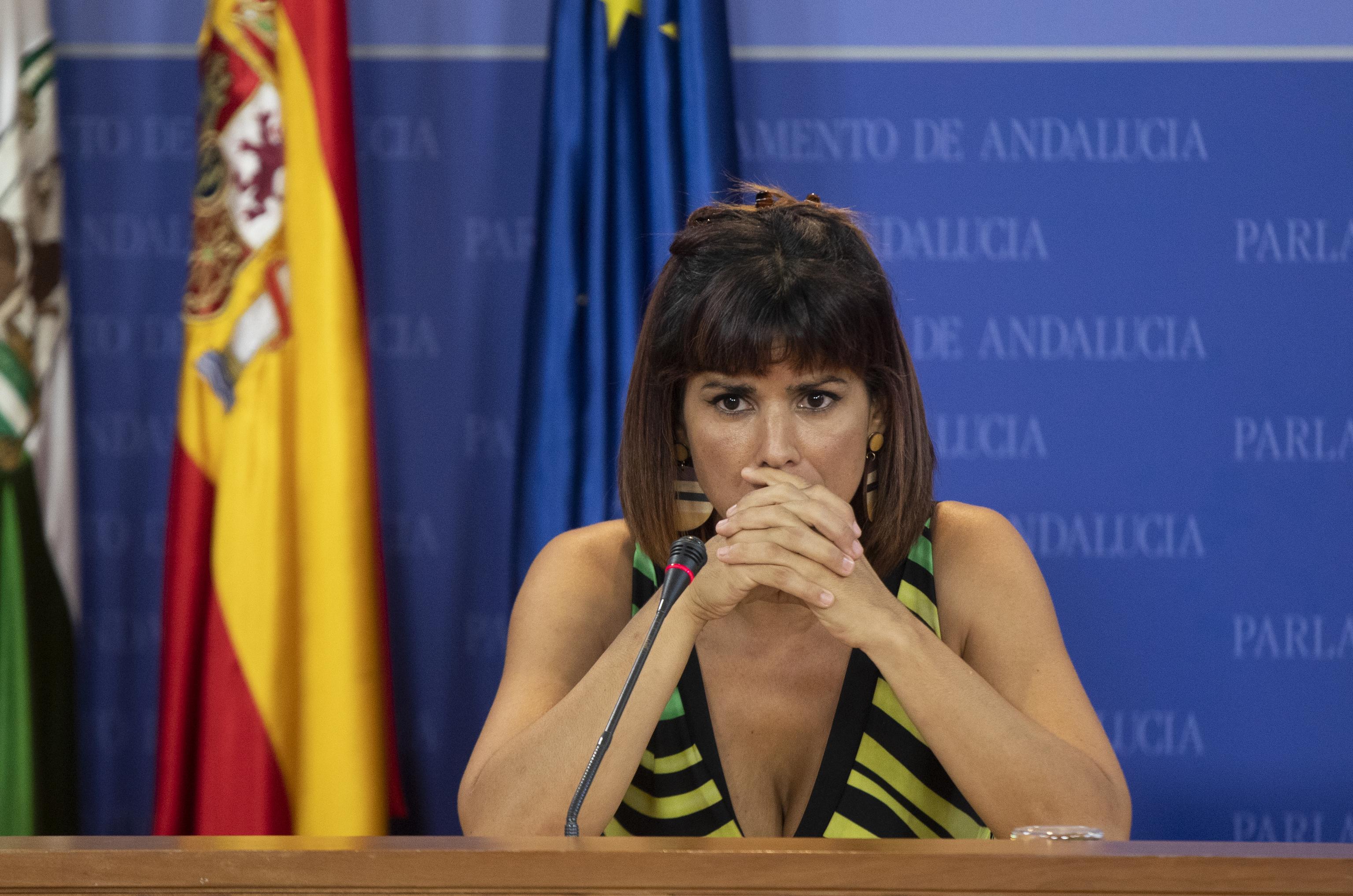 La diputada Teresa Rodríguez, en el Parlamento.