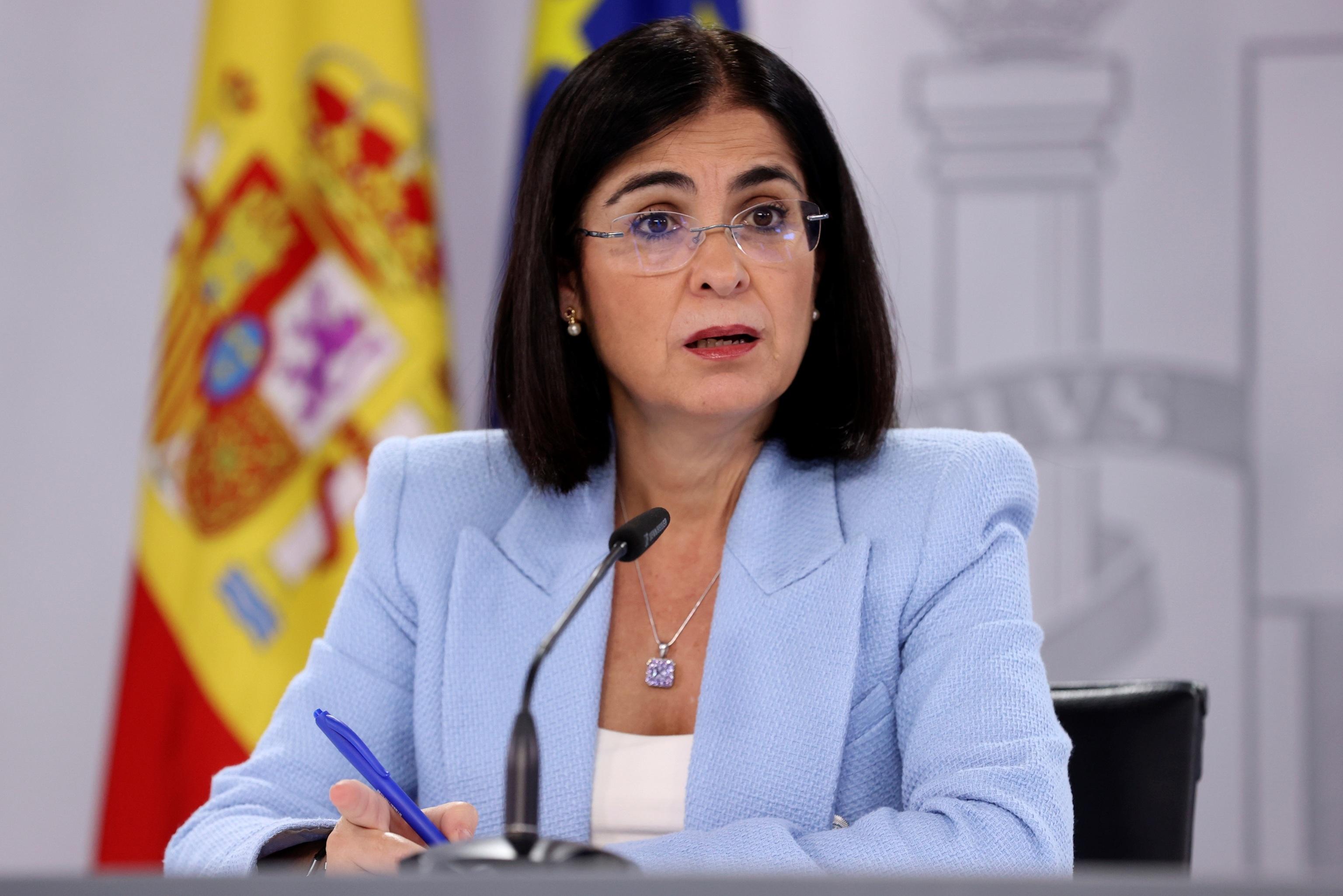 La ministra de Sanidad, Carolina Darias, ofrece una rueda de prensa tras la reunión del Consejo Interterritorial.