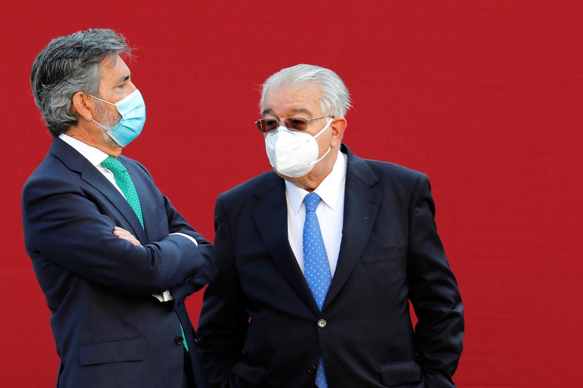 Carlos Lesmes y Juan José González Rivas.