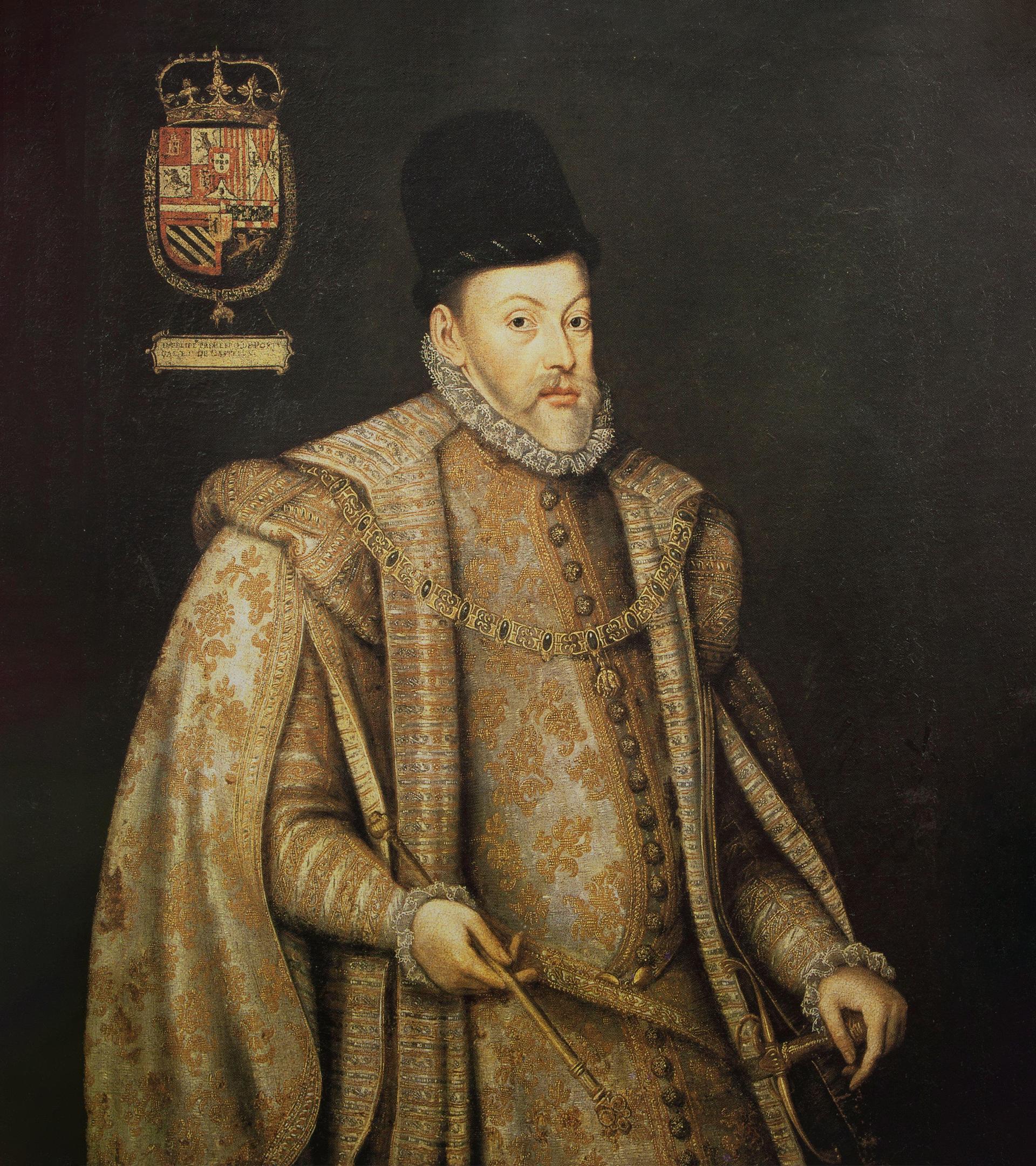 Felipe II, retratado por Alonso Sánchez Coello