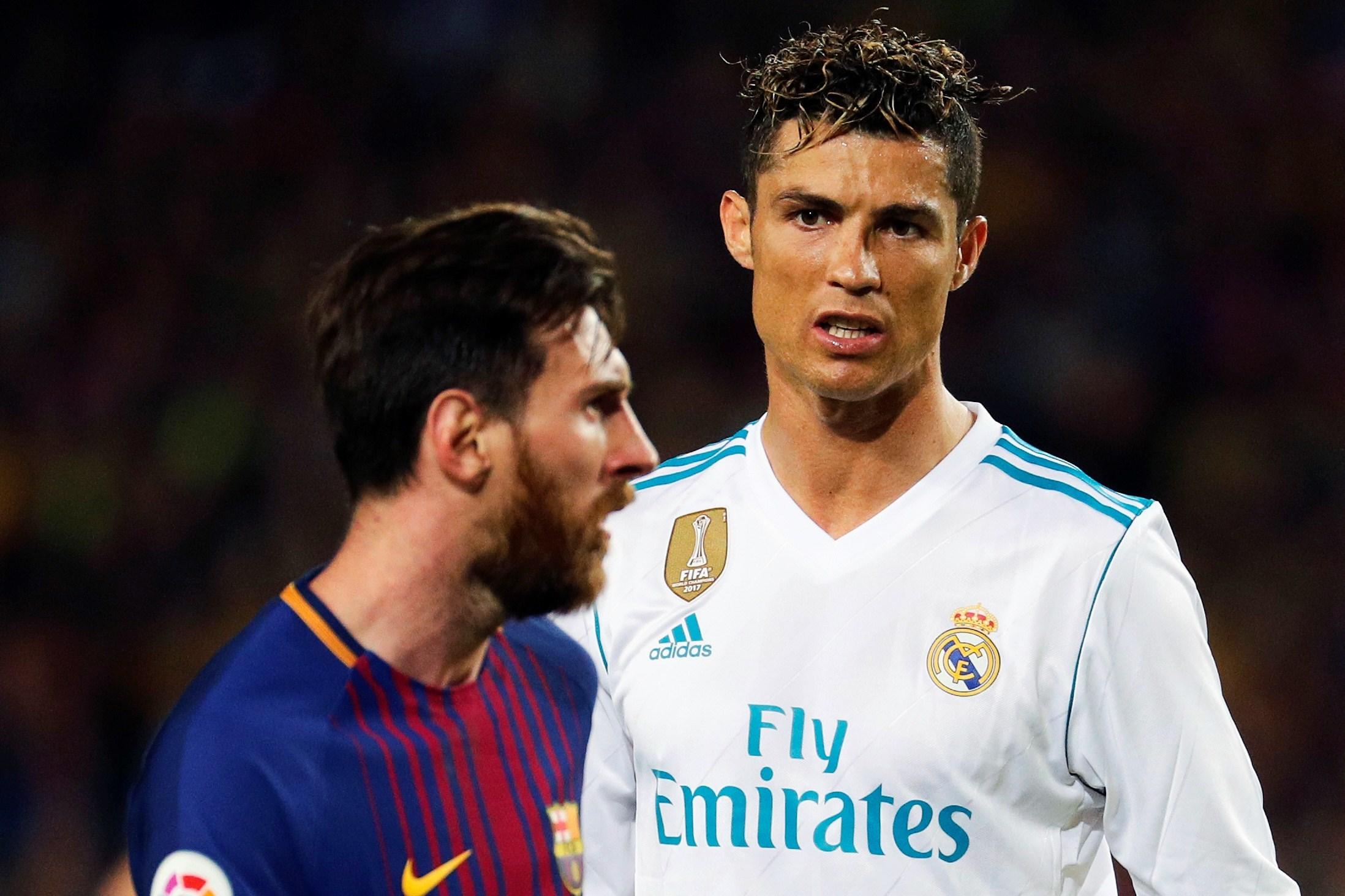 Messi y Cristiano, en un clásico.