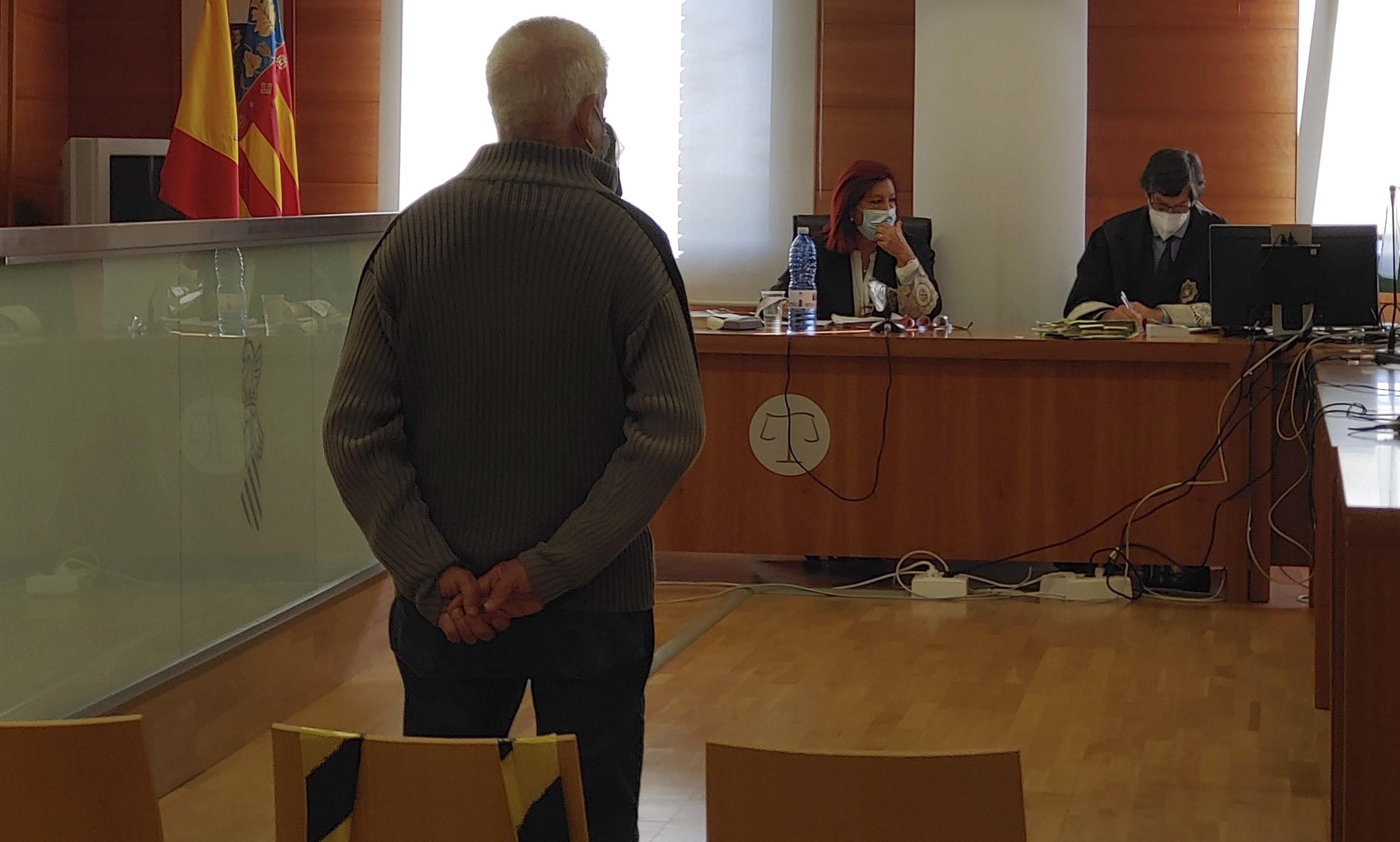 El acusado durante el juicio en la Audiencia Provincial de Castellón.