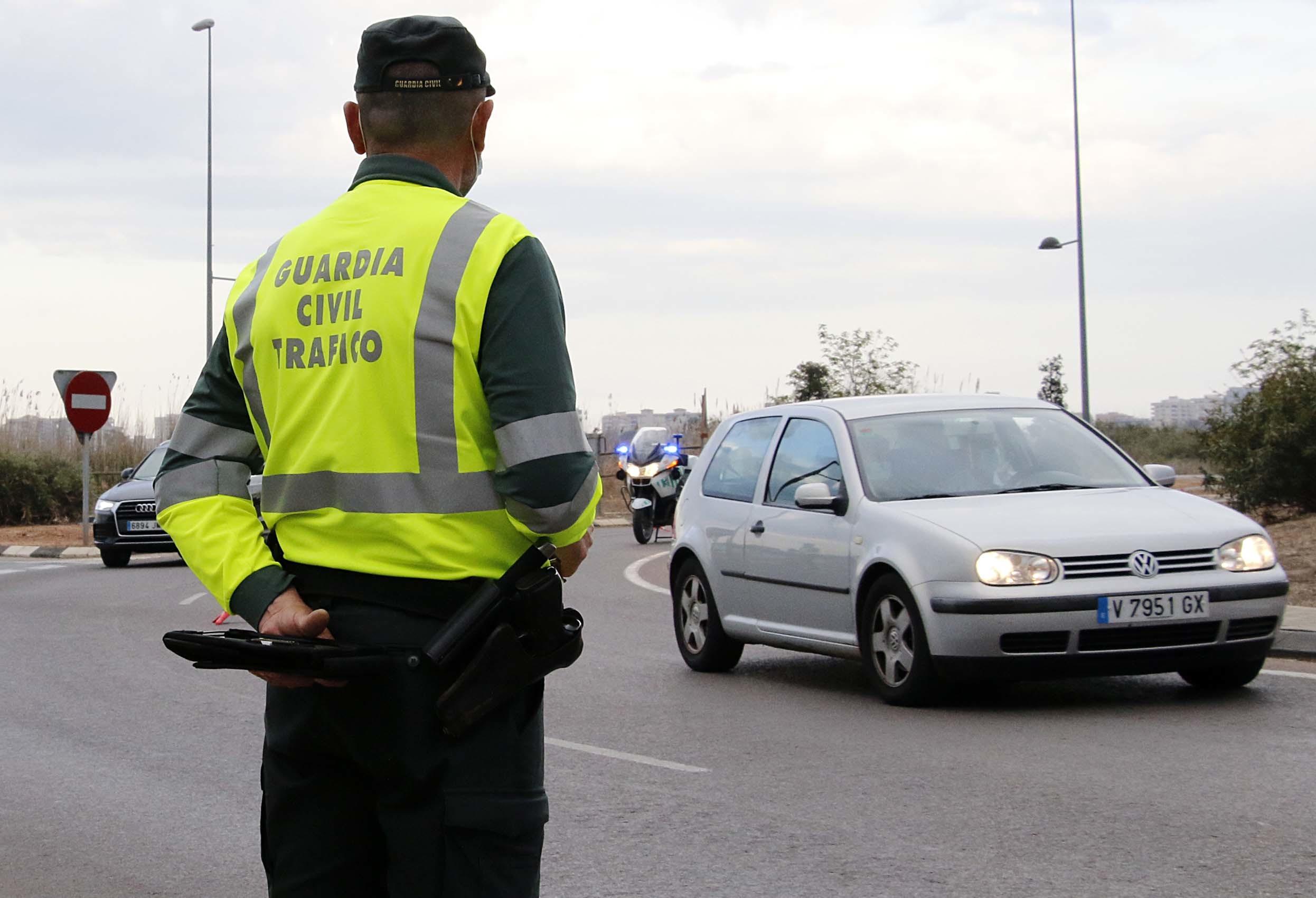Control de alcoholemia de la Guardia Civil.