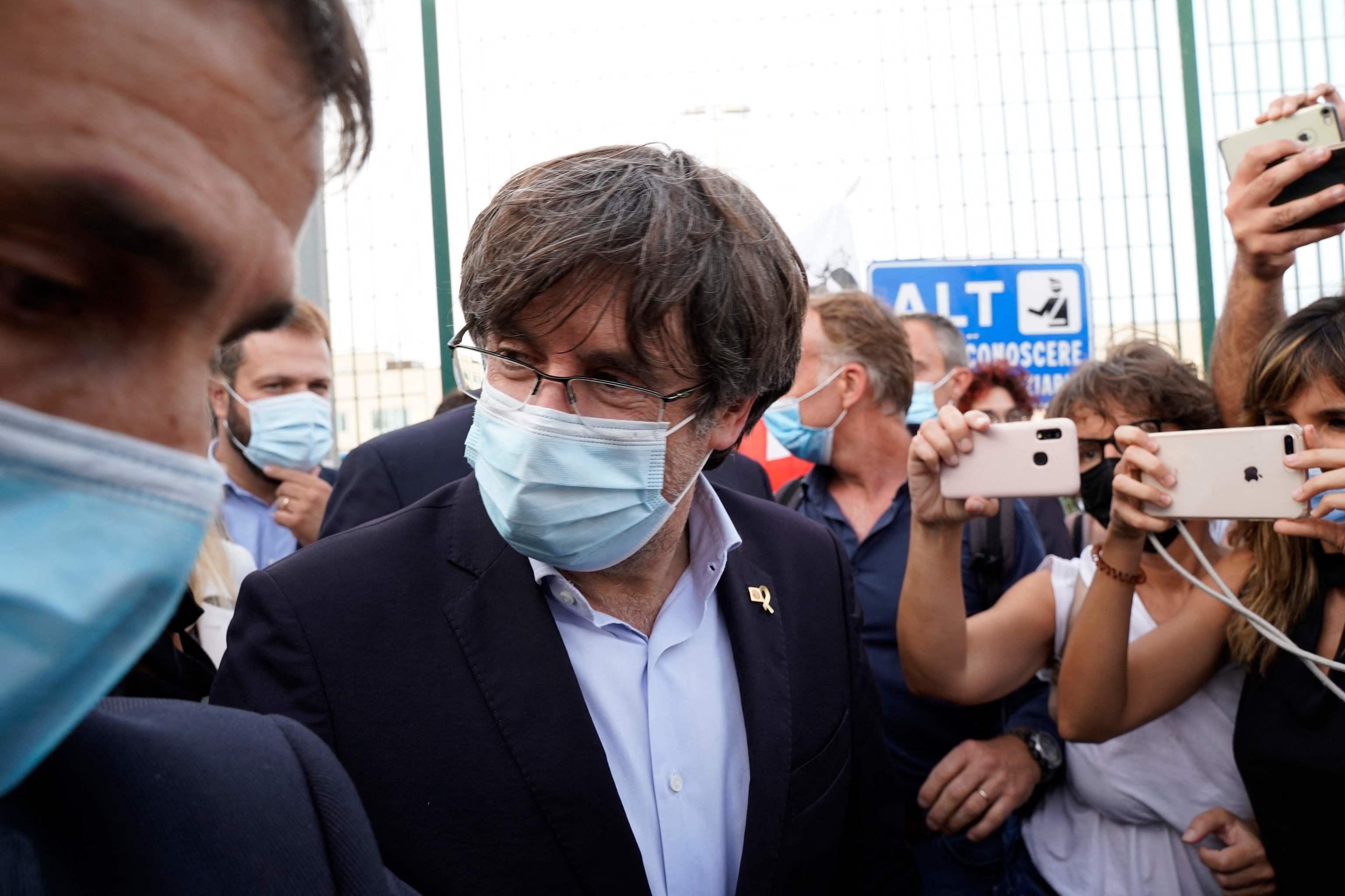 Carles Puigdemont, este septiembre en Cerdeña.