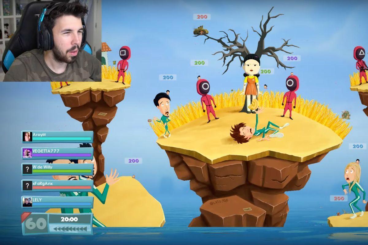 Willyrex y Vegetta777 muestran El juego del calamar en Worms