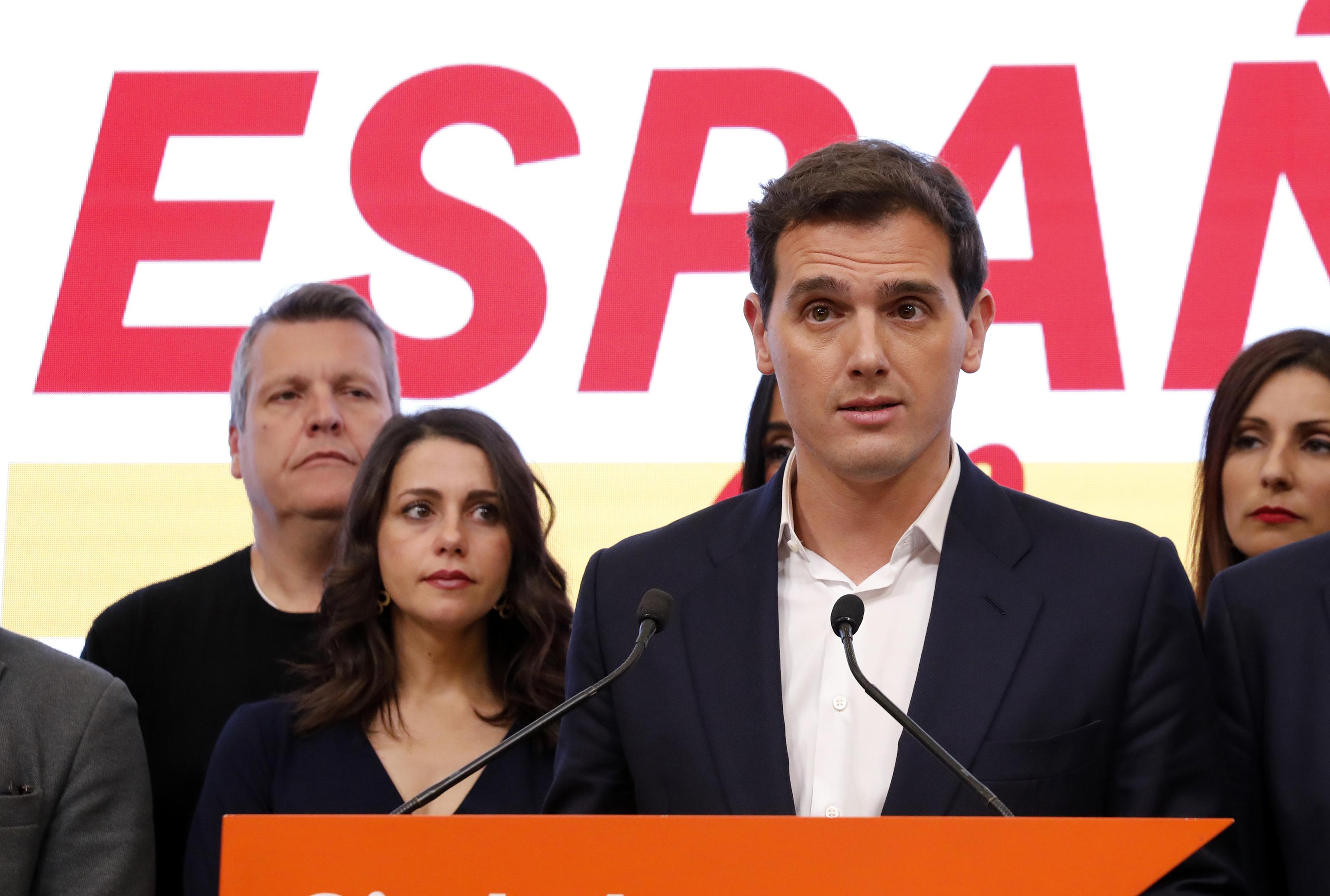 Rivera y Arrimadas, la noche electoral del 10-N de 2019.