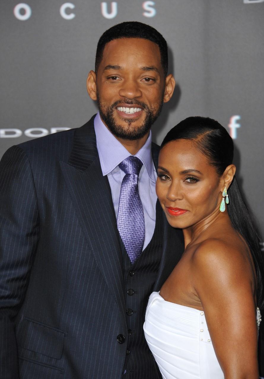 El actor estadounidense junto a su esposa, Jada Pinkett Smith.