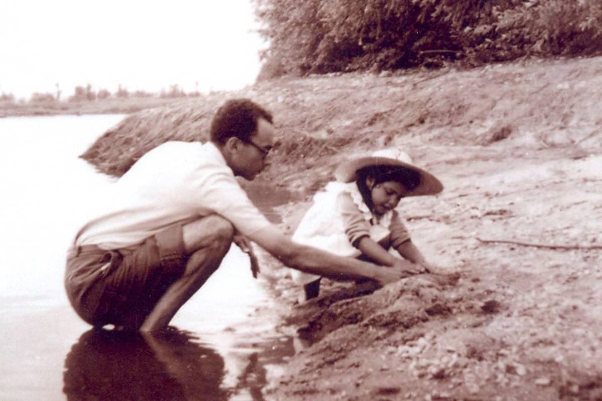 José Saramago junto a su hija Violante
