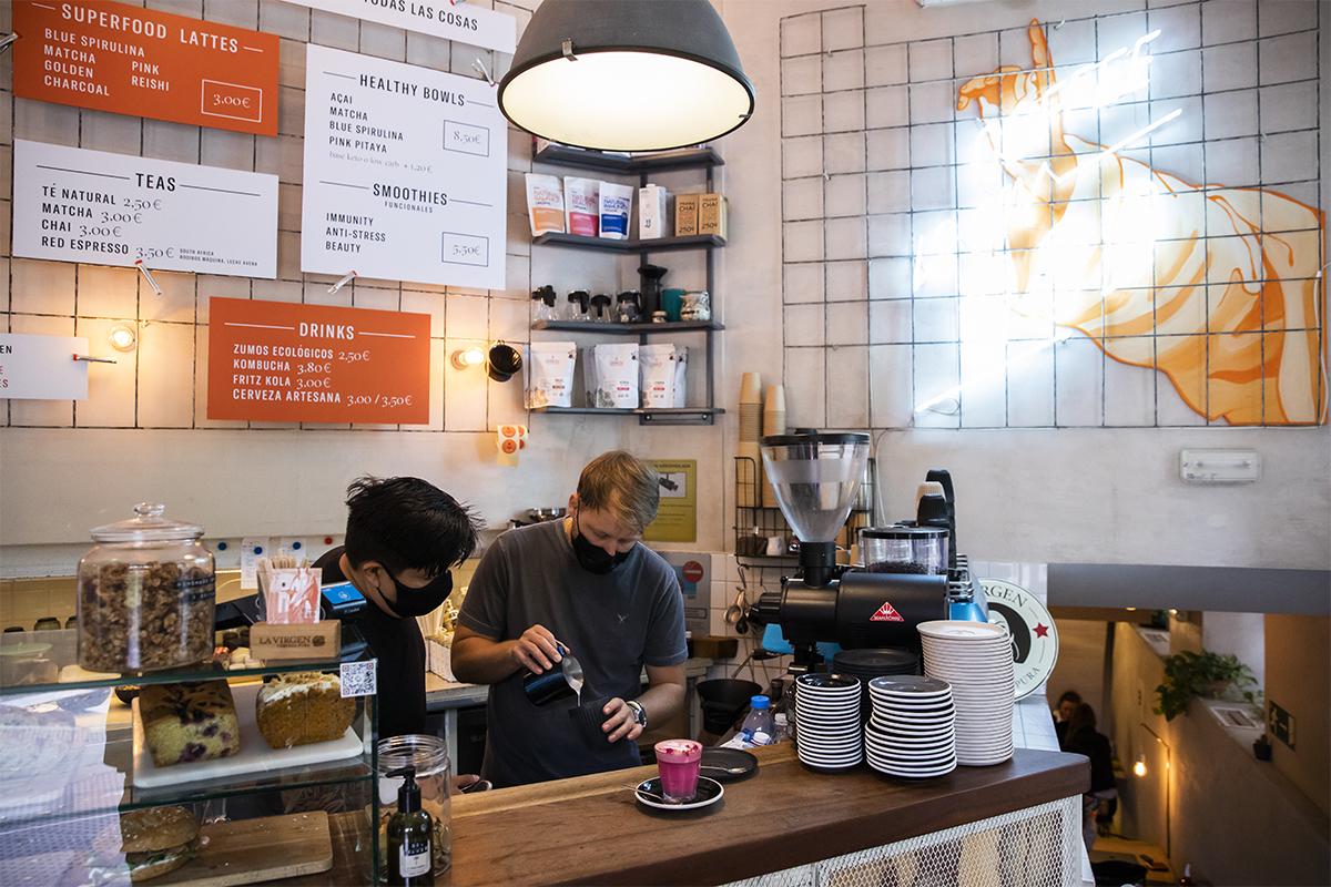 Religion Speciality Coffee, un agradable rincón en María de Molina que forma parte de los muros de los 'influencers' con más seguidores.