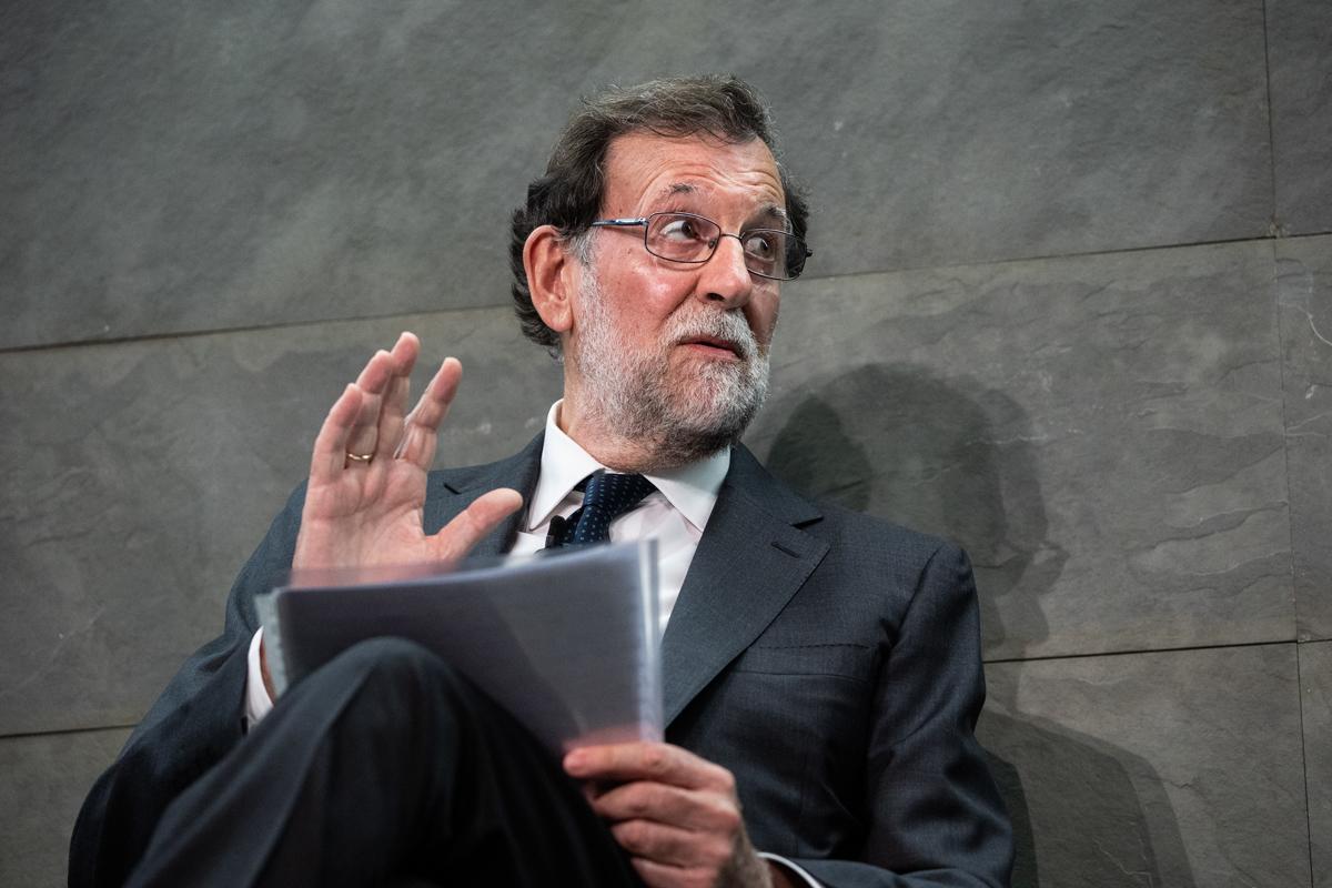 Mariano Rajoy, el miércoles, en un acto en Madrid.