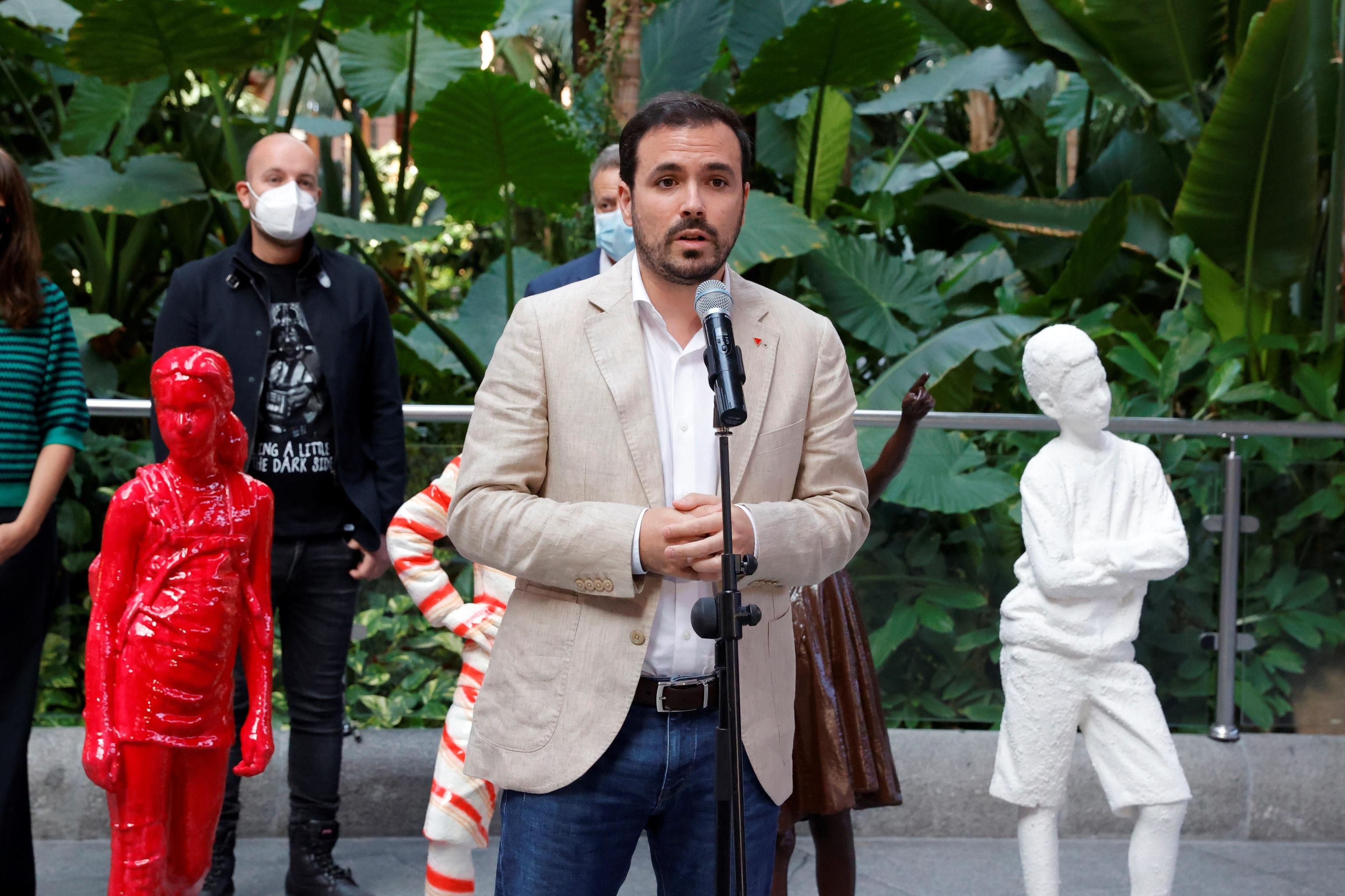 El ministro de Consumo, Alberto  Garzón, presenta la campaña Hijos del azúcar este sábado