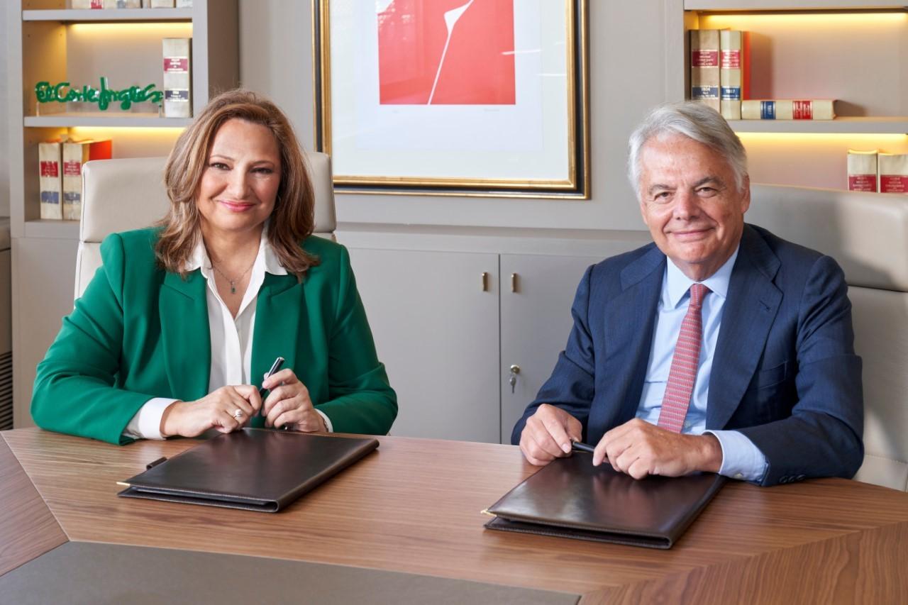 Marta Álvarez, presidenta de El Corte Inglés, e Ignacio Garralda, presidente de Grupo Mutua.
