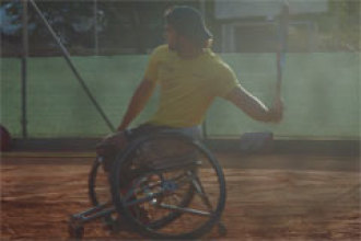 Dani Caverzaschi, la promesa española del tenis en silla de ruedas