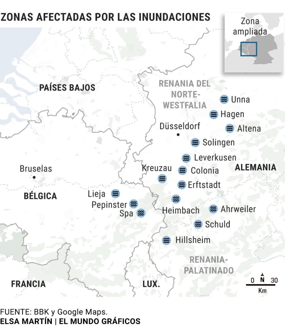 """El Servicio Europeo de Alertas avisó a Alemania del riesgo """"extremo"""" de inundaciones: """"Todo esto ha sido un error monumental"""""""