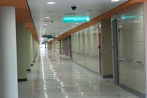 Imagen de los pasillos del nuevo hospital   Cati Cladera