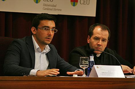 Gozález Triviño en una conferencia en el CEU. | U. Cardenal Herrera