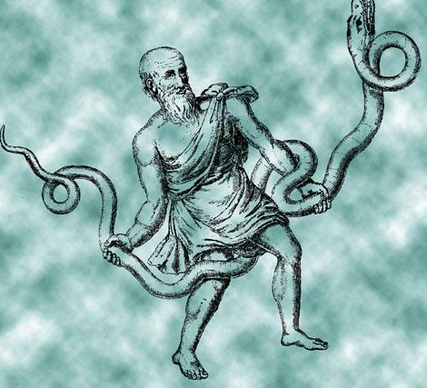 Ofiuco aparece en el cielo sujetando una serpiente