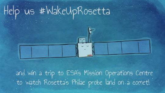 Concurso para despertar a Rosetta en la cuenta de Facebook de la misión