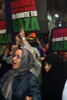 Activistas del IHH en una manifestación en Estambul a favor de Gaza. Foto: Ilya U. Topper. 2011