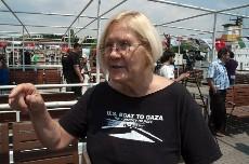 Ann Wright, activista estadounidense de la Flotilla para Gaza. Foto: Ilya U. Topper. 2011