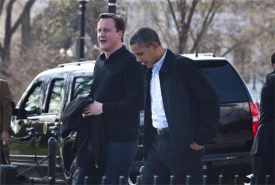 Obama y Cameron en Washiington.   Efe