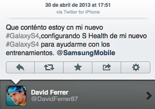 El error del tenista David Ferrer.