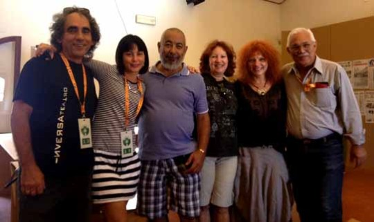 Delegación cubana participante en el Festivaletteratura en Mantova.