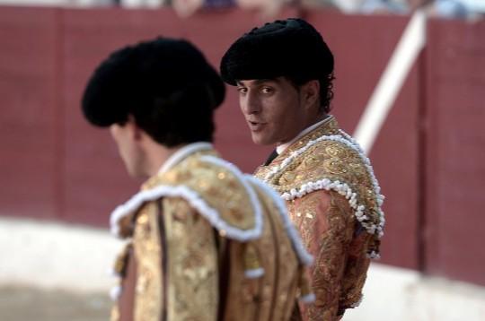Iván Fandiño charla con Juan del Álamo instantes antes de la cogida mortal.