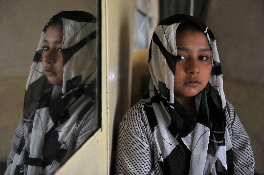 La niña herida de Afganistán