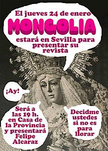 Cartel de la revista 'Mongolia', más tarde retirado.