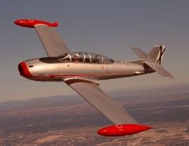Un HA-200 Saeta en pleno vuelo. / Foto: Ejército del Aire