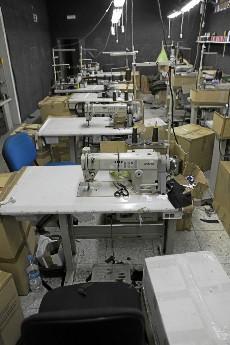 Máquinas de coser en un taller de confección