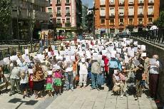 Protesta vecinal contra la inseguridad (Foto: Julio Palomar)