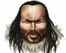 Recreación de Inuk, el esquimal prehistórico de Groelandia.