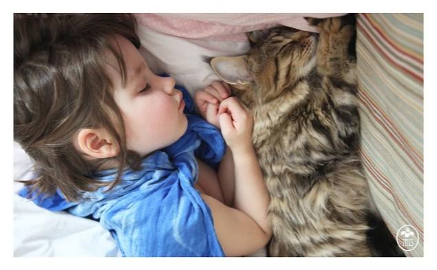 Iris y Thula: la increíble historia de amistad entre una niña autista y su gata