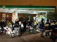 Gasolinera en la carretera de Toledo donde ha explotado uno de los artefactos