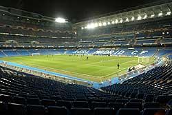 Imagen del Bernabéu vacío