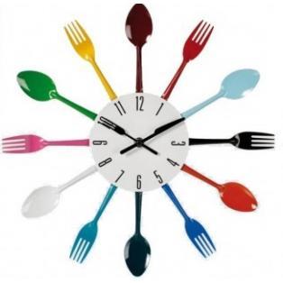 Reloj de Pared Cubiertos de Colores