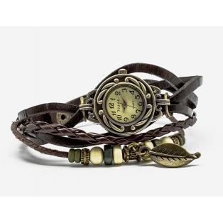 Reloj vintage hoja marrón