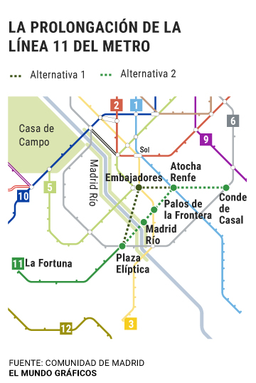 Mapa Metro Y Cercanias Madrid 2019.La Mejor Alternativa Para Ampliar La Linea 11 De Metro